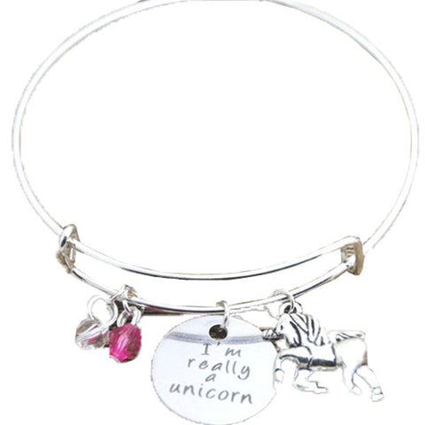 I'm Really A Unicorn Charm Bangle, , Unicorn Rhapsody, unicorn products, unicorn stuff