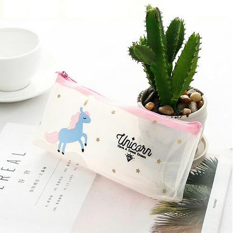 Cute Transparent Pencil Case/Make Up Bag, , Unicorn Rhapsody, unicorn products, unicorn stuff