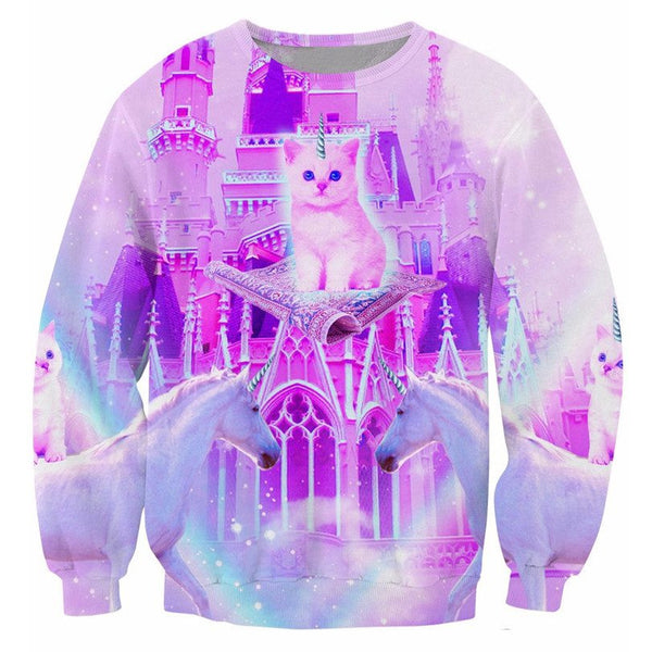 King Purrrfect the Eight Sweatshirt, , Unicorn Rhapsody, unicorn products, unicorn stuff