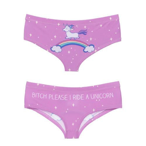 Bitch please I ride a unicorn - panties, , Unicorn Rhapsody, unicorn products, unicorn stuff
