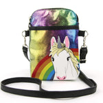 Unicorn in Rainbow Crossbody Bag in Vinyl, , Unicorn Rhapsody, unicorn products, unicorn stuff
