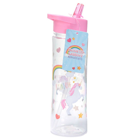 Enchanted Rainbows Unicorn Water Bottle 500ml, , Unicorn Rhapsody, unicorn products, unicorn stuff