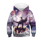 Children Fashion Galaxy Colorful Hooded Hoodies Funny Unicorn Horse Universe Star Cloud Printed Sweatshirt Boys Girl Kids Tops, , Unicorn Rhapsody, unicorn products, unicorn stuff