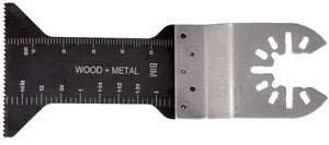 "BiMetal Fine Tooth 2.25"" long and 1.75"" wide - For Wood and Metal"