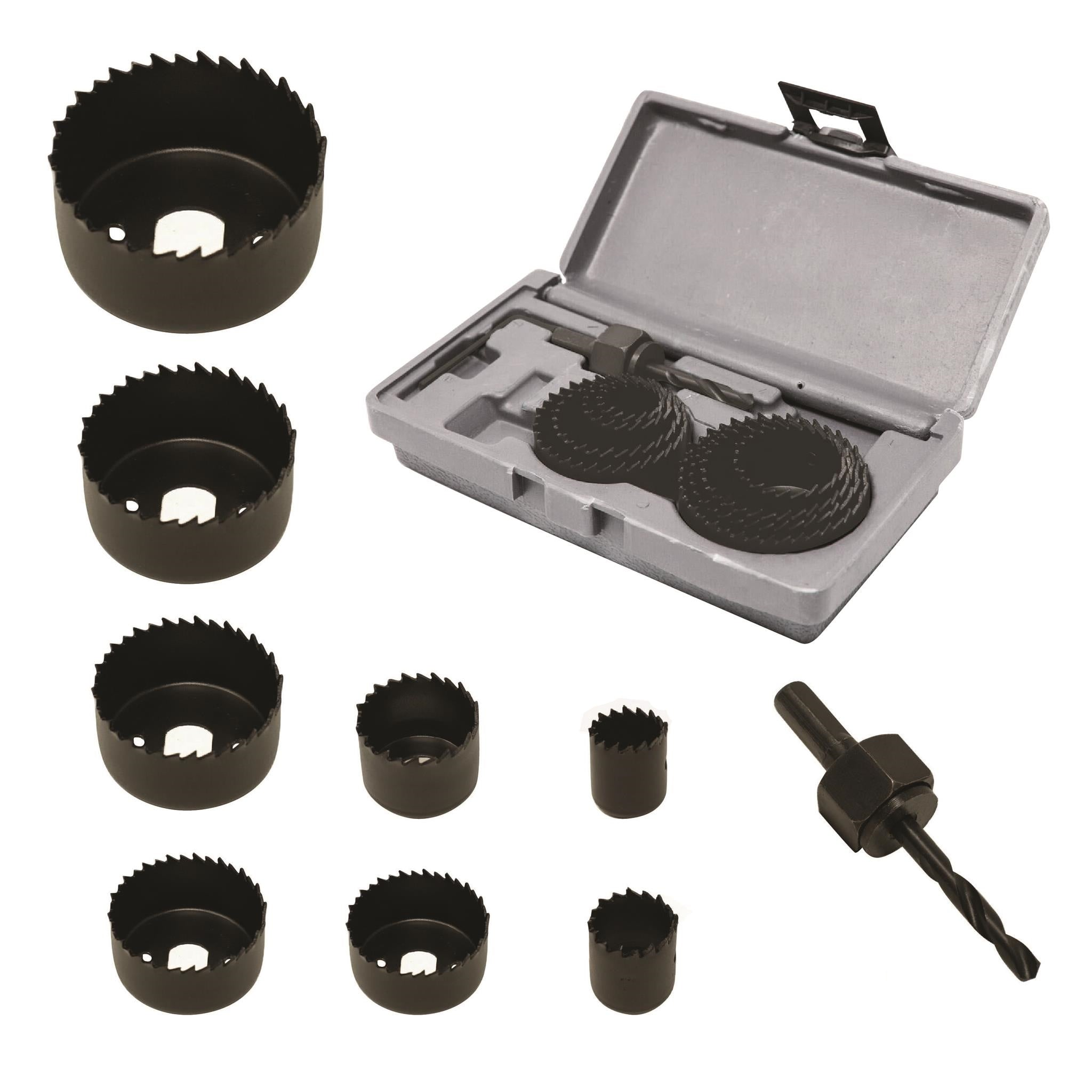 caseypowell - 10 Piece Hole Saw Kit - Hole Saw Kit - Ryker Hardware