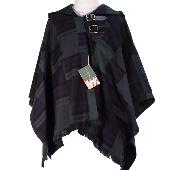 Black Watch Patchwork Wrap Cape