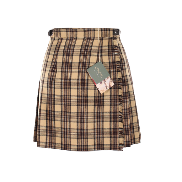 Camel Check Mini Kilt (49cm Length)