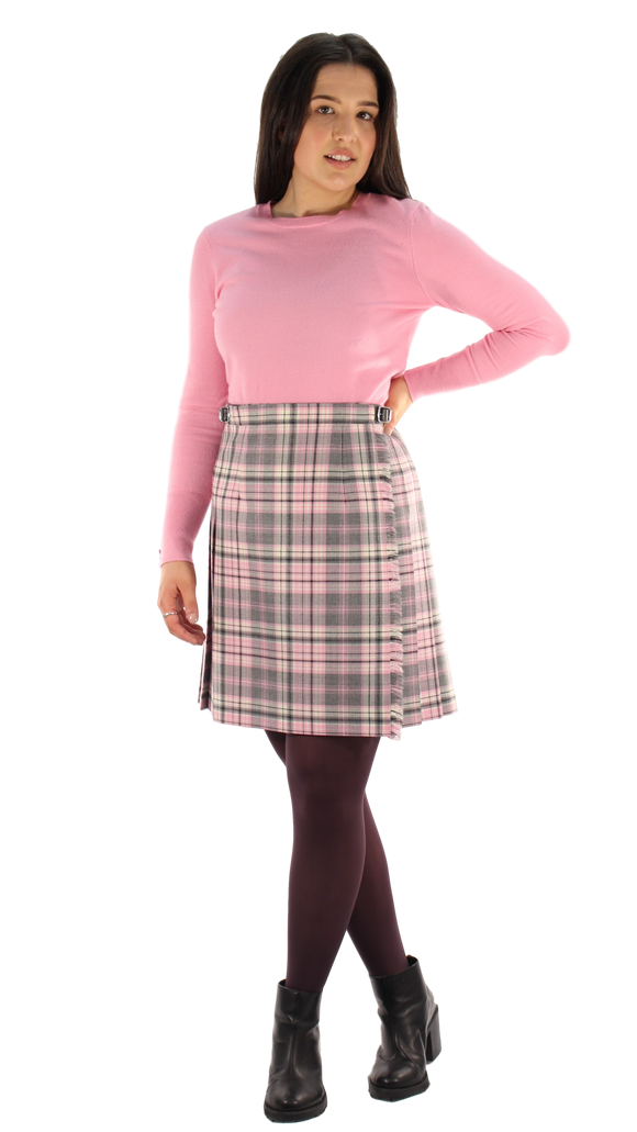Pink Check Mini Kilt (49cm Length)