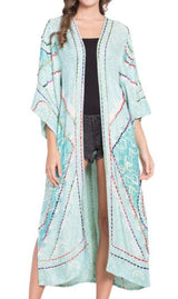 Embroidered Coat/Duster