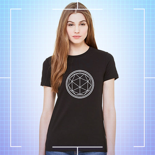 Black Crystal T-shirt - Ladies
