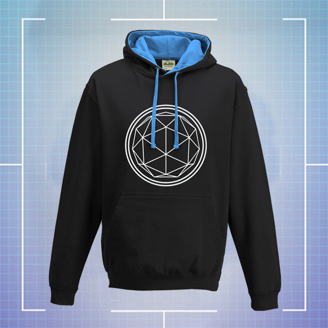 Black Hoodie with Blue Coloured Hood