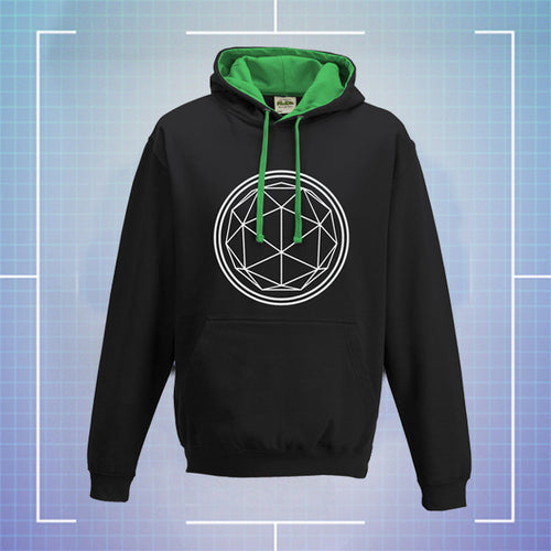 Black Hoodie with Green Coloured Hood