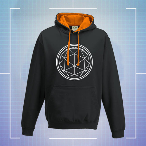 Black Hoodie with Orange Coloured Hood