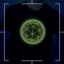 Black Glow In the Dark Crystal Logo T-shirt