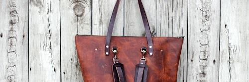 Handmade Leather Bags: Brown Or Black