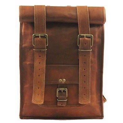 Real genuine leather Men's Backpack Bag laptop Satchel