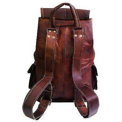 Leather Backpack Messenger Bag