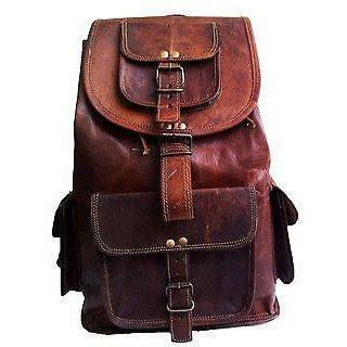Genuine Leather Backpack Messenger Bag