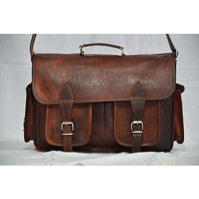 Handmade Leather Laptop Messenger Satchel Bag