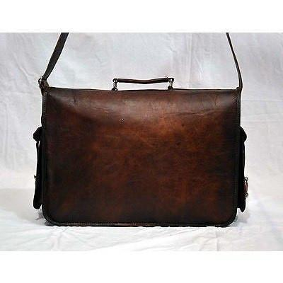 Leather Laptop Messenger Satchel Bag