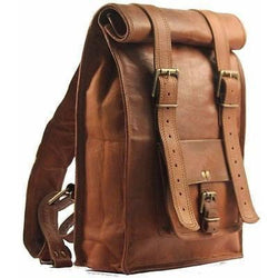 Genuine leather Men's Backpack