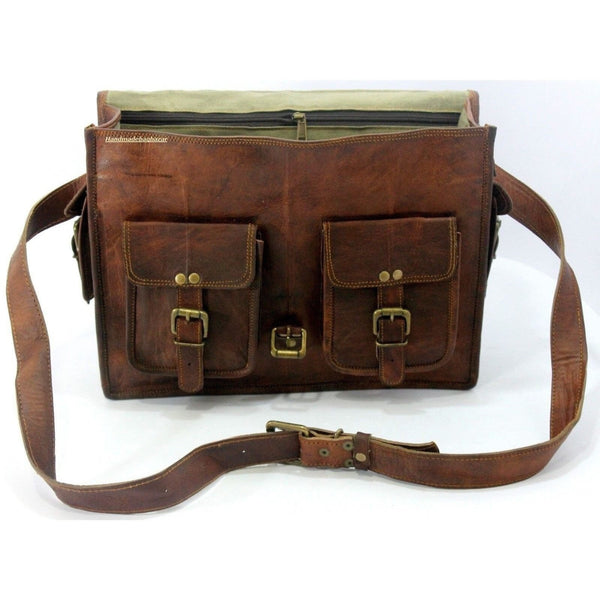 Genuine Leather Shoulder Laptop Bag
