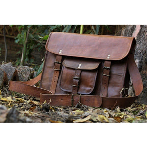 Mens Brown Leather Shoulder Bag