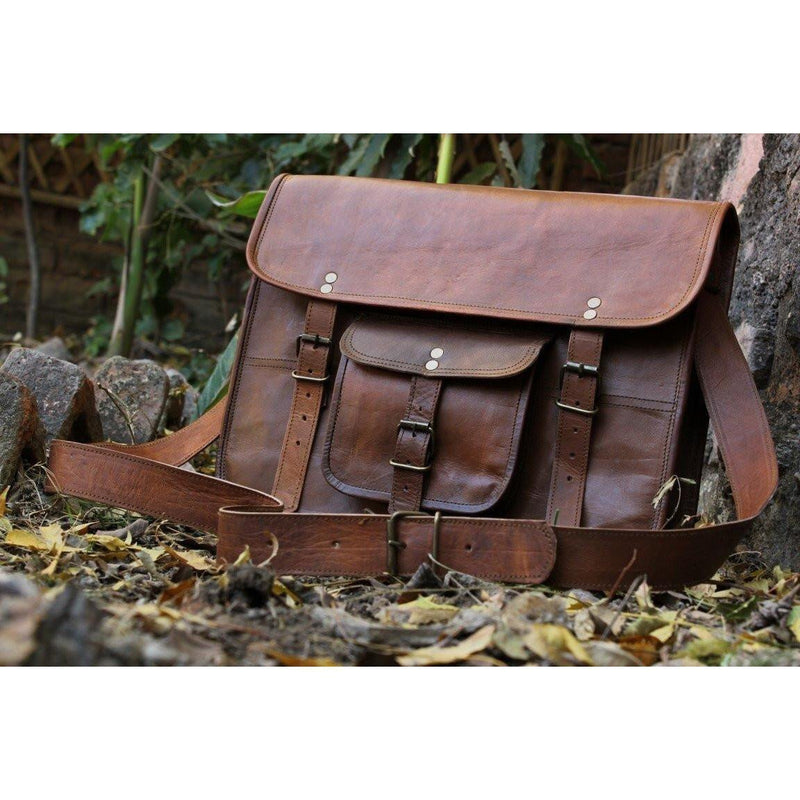 Genuine Leather Laptop Satchel