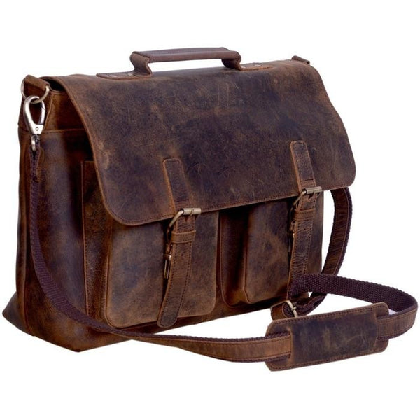 Unique Retro Buffalo Leather Vintage Briefcase