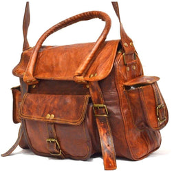 Leather Satchel Tote Messenger Bag