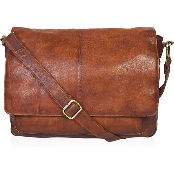 Leather Messenger Bag for Men & Women