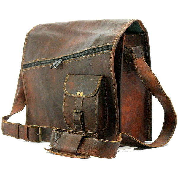 Rustic Shade Authentic Leather Messenger Bag