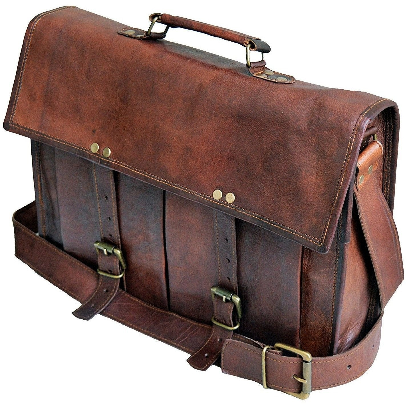 Classic Handmade Leather Briefcase