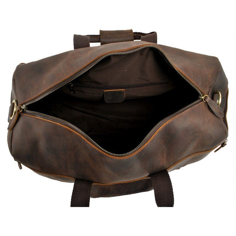 "23"" Full Grain Cowhide Leather Weekender Duffel Bag Overnight Luggage"