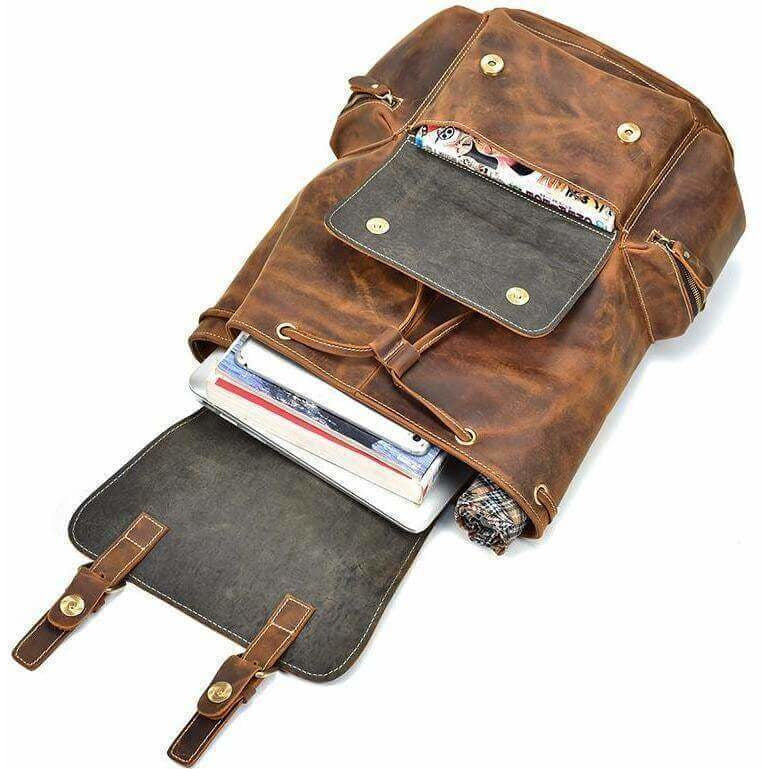Crazy Horse Buffalo Leather Backpack