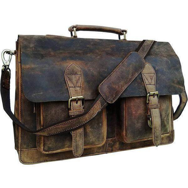 cbe897dfdb Vintage Retro Buffalo Leather Briefcase | Leather Bags Gallery