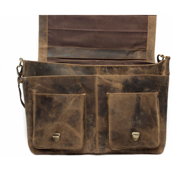 Exquisite Vintage Leather Briefcase Satchel