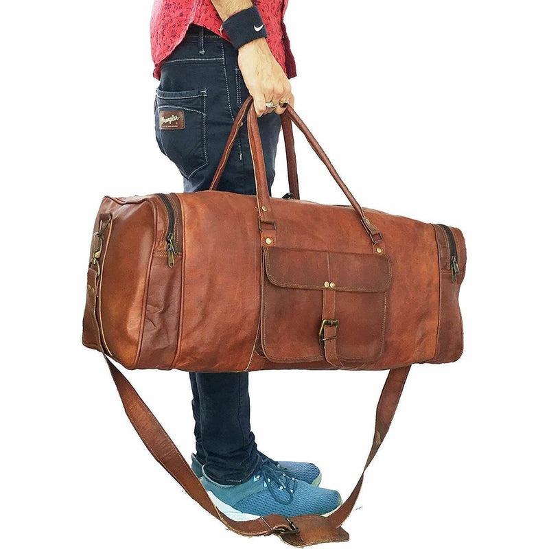 Smart And Casual Vintage Leather Duffle Bag