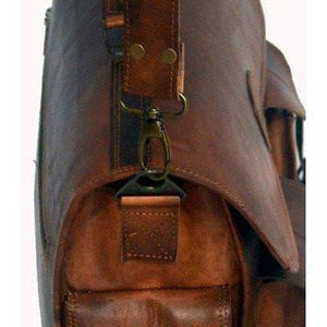 Handmade Vintage Brown Leather Briefcase
