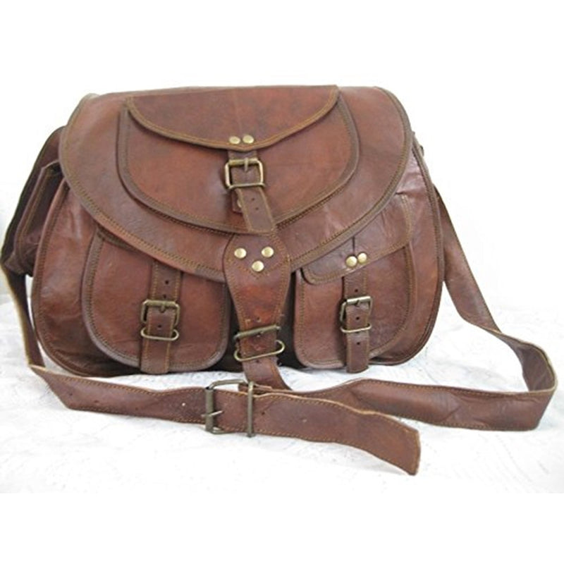 Handmade Leather Satchel Saddle Retro Rustic Vintage Bag (Unisex)