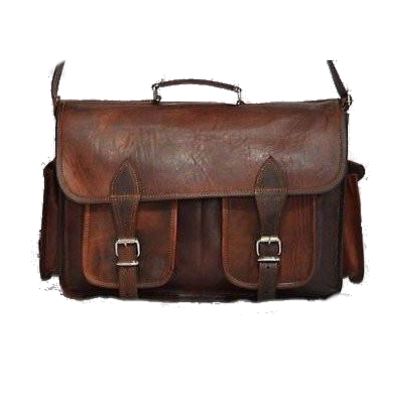 Handmade Brown Leather Vintage Camera Bag