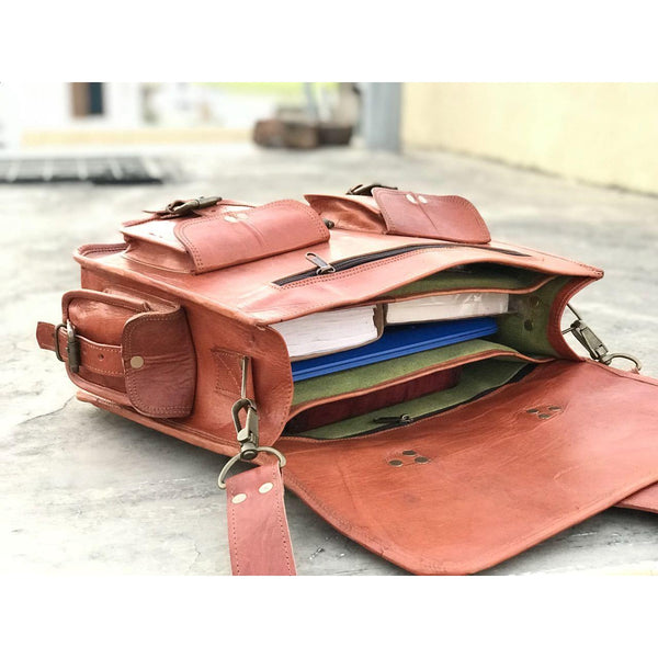 Handmade Leather Briefcase Satchel For The Fasionista!