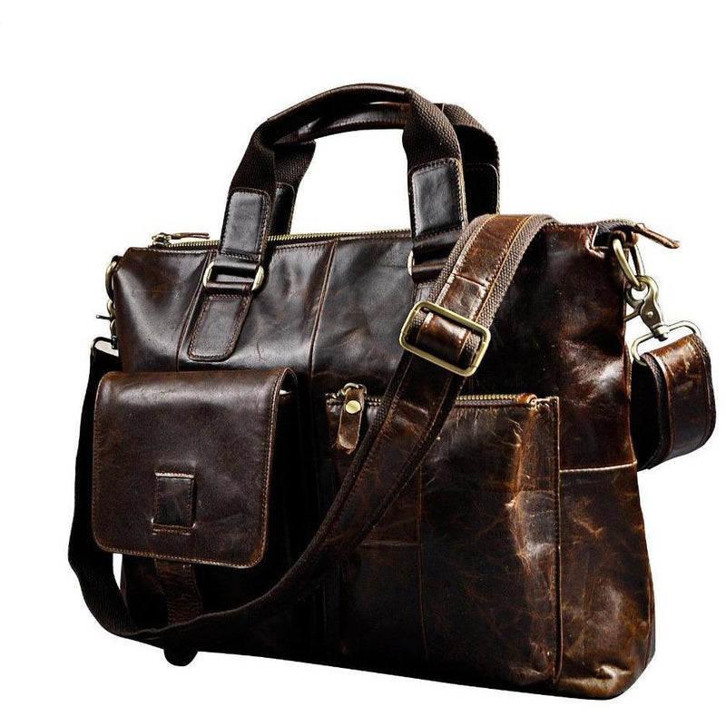Genuine Leather Retro Soft Leather Handmade Briefcase