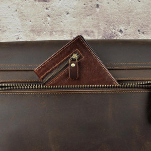 Vintage Leather Shoulder Messenger/laptop Bag For Men Of This Century
