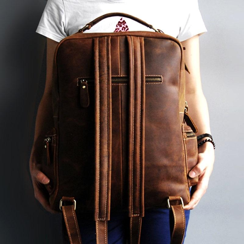 Genuine Vintage Handmade Cosmic Brown Leather Adventure Backpack