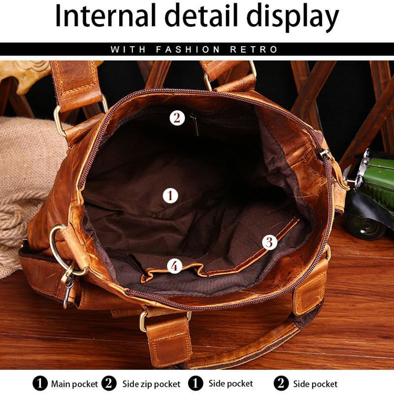 Retro Genuine Leather Messenger Shoulder Bag
