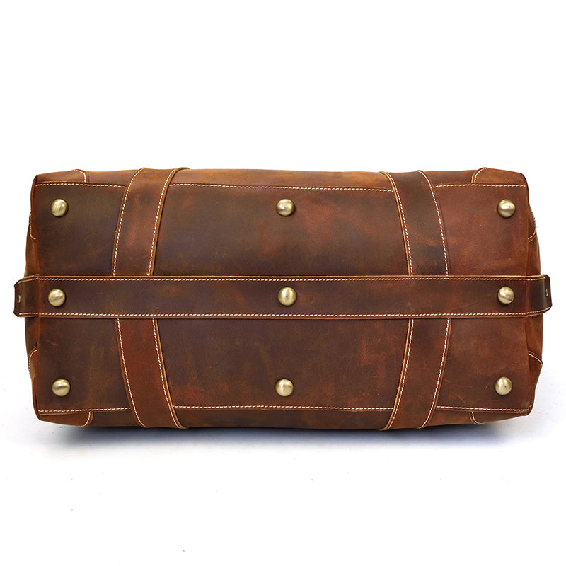 Crazy Horse Cowhide Leather Duffel Travel Bag