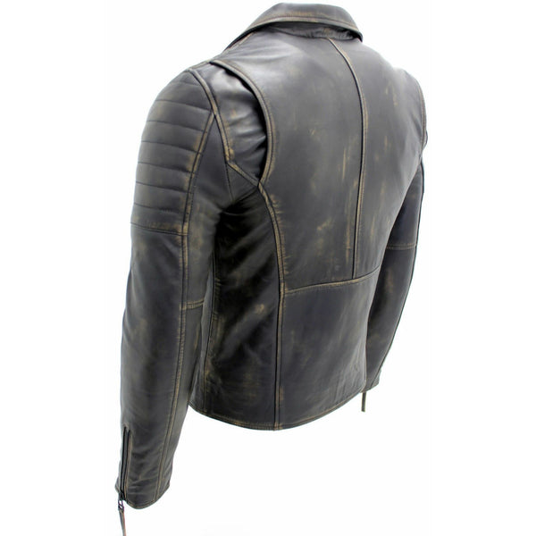 Cosmic Brown Distress Genuine Leather Brando Vintage Jacket
