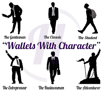 mens wallet with character