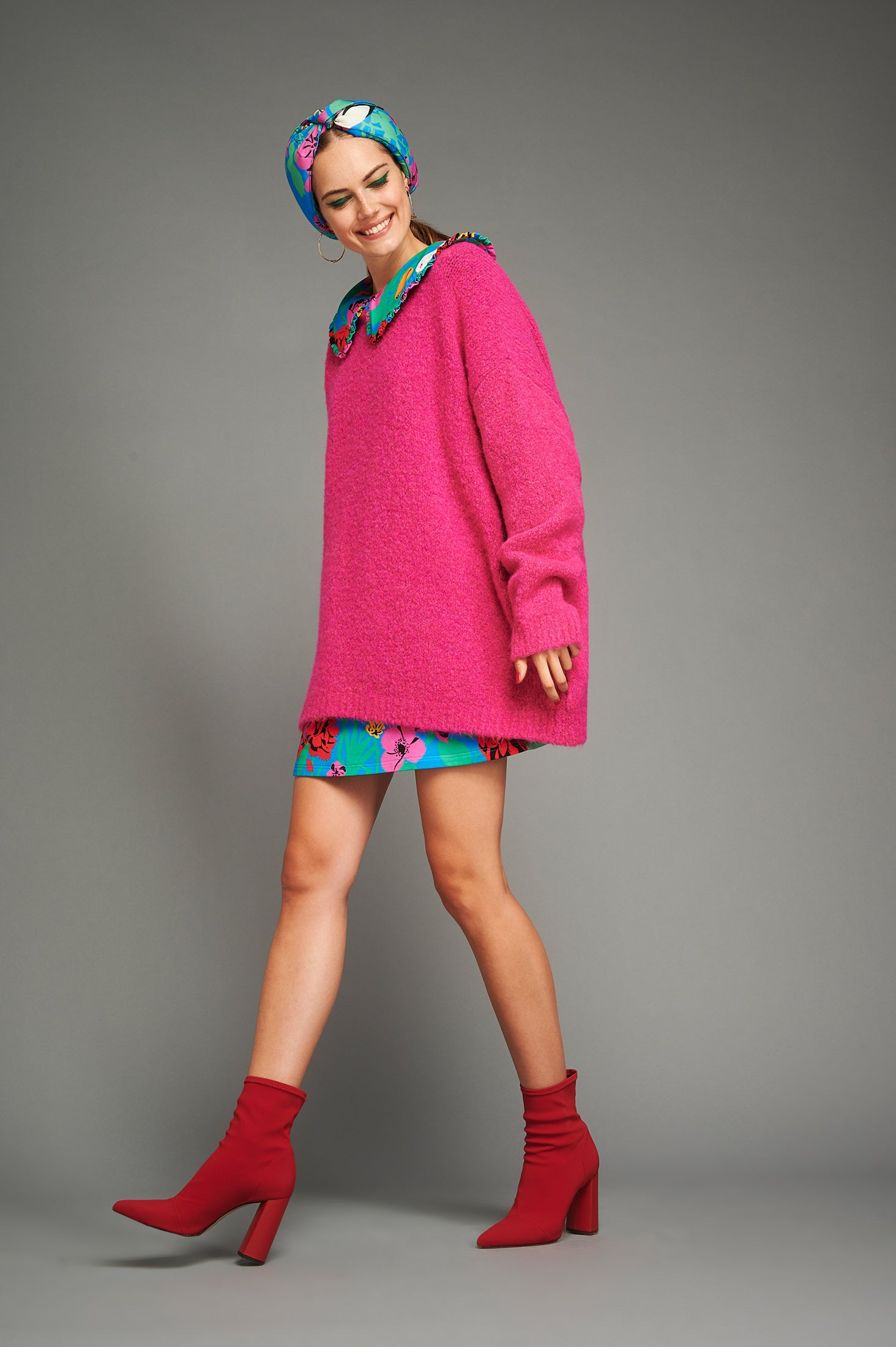 Zoe Sweater (Fuchsia)